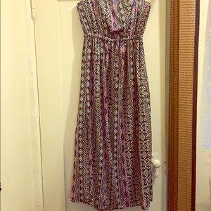 forever 21 strapless aztec dress